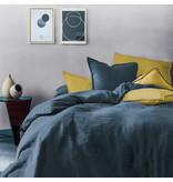 Matt & Rose Housse de couette Marine - Format hôtel - 260 x 240 cm + 2x 50 x 70 - 100% Lin