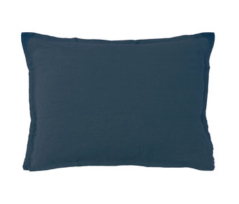 Matt & Rose Set Pillowcases Navy 50 x 70 cm Linen