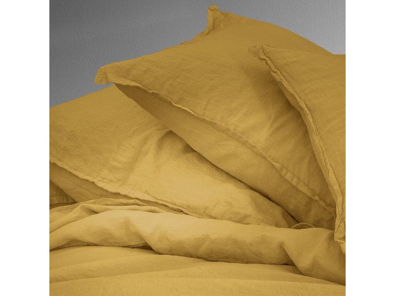 Matt & Rose Duvet cover Saffron - Hotel size - 260 x 240 + 2x 65 x 65 cm - 100% Linen