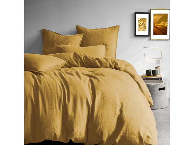 Matt & Rose Duvet cover Saffron - Hotel size - 260 x 220 cm + 2x 50 x 70 - 100% Linen
