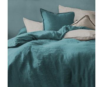 Matt & Rose Duvet cover Green 260 x 240 + 65 x65 Linen