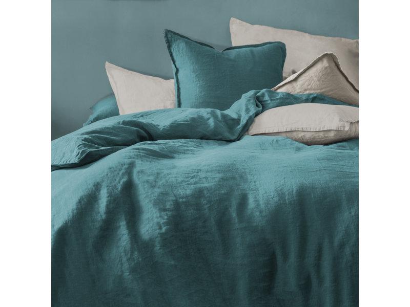 Matt & Rose Duvet cover Green - Hotel size - 260 x 240 + 2x 65 x 65 cm - 100% Linen