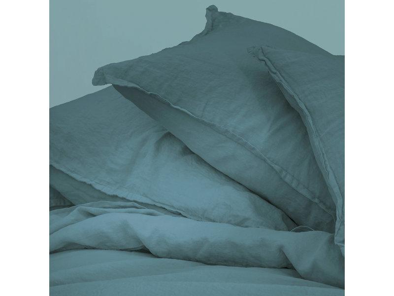 Matt & Rose Housse de couette Vert - Format hôtel - 260 x 240 + 2x 65 x 65 cm - 100% Lin