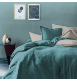 Matt & Rose Housse de couette Vert - Lits jumeaux - 240 x 220 cm + 2x 65 x 65 - 100% Lin