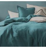 Matt & Rose Housse de couette Vert - Taille hôtel - 260 x 240 cm, sans taies d'oreiller - 100% Lin