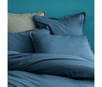 Matt & Rose Housse de couette Bleu 240 x 220 + 50 x 70 Coton lavé