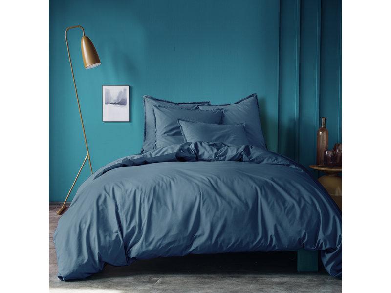Matt & Rose Housse de couette Bleu - Lits Jumeaux - 240 x 220 + 2x 50 x 70 cm - Coton lavé