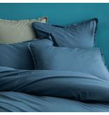 Matt & Rose Housse de couette Bleu - Double - 200 x 200 + 2x 50 x 70 cm - Coton lavé