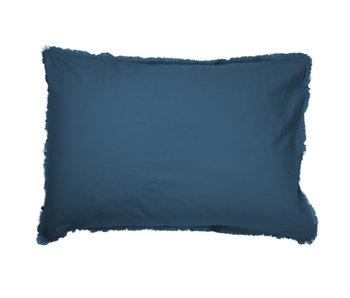 Matt & Rose Parure Taies d'Oreiller Bleu 50 x 70 cm Coton Lavé