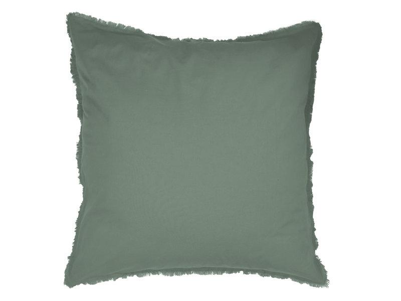 Matt & Rose Housse de couette Vert - Lits Jumeaux - 240 x 220 + 2x 65 x 65 cm - Coton lavé