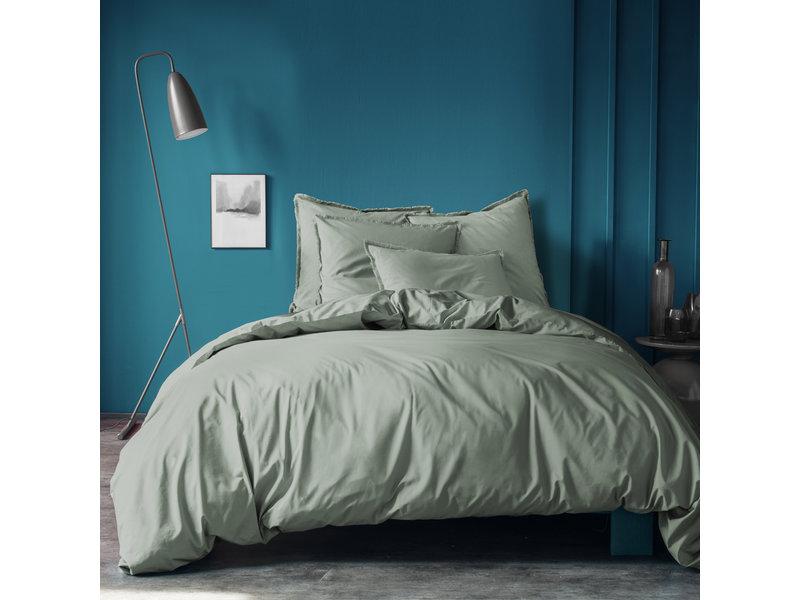 Matt & Rose Housse de couette Vert -Double - 200 x 200 + 2x 50 x 70 cm - Coton lavé