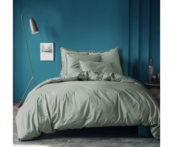 Matt & Rose Duvet cover Green 200 x 200 ZS Washed Cotton