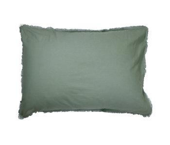 Matt & Rose Set Pillowcases Green 50 x 70 cm Washed Cotton