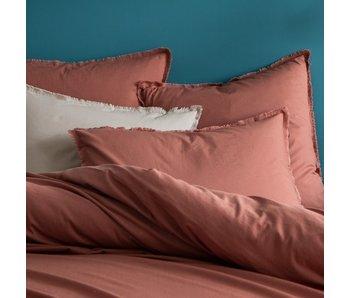 Matt & Rose Duvet cover Terracotta 260 x 240 + 50 x 70 Washed cotton