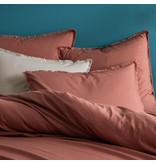 Matt & Rose Dekbedovertrek Terracotta - Lits Jumeaux - 240 x 220 + 2x 50 x 70 cm - Gewassen katoen