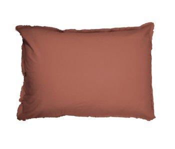 Matt & Rose Set of Pillowcases Terracotta 50 x 70 cm Washed Cotton