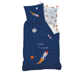 Matt & Rose Dekbedovertrek Explore Space 140 x 200 Katoen