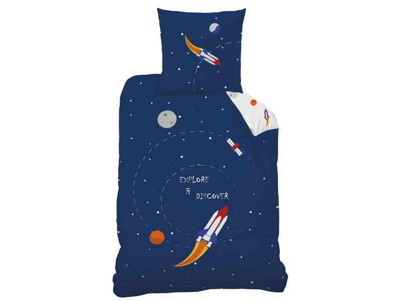 Matt & Rose Housse de couette Explore Space - Simple - 140 x 200 cm - Coton