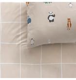Matt & Rose Housse de couette Animaux du Monde - Simple - 140 x 200 cm - Coton