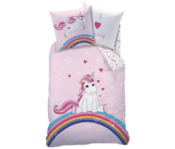 Matt & Rose Duvet cover Unicorn Rainbow 140 x 200 Cotton