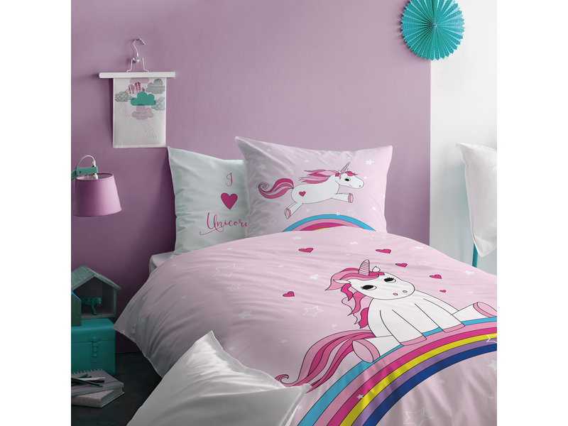 Matt & Rose Duvet cover Unicorn Rainbow - Single - 140 x 200 cm - Cotton