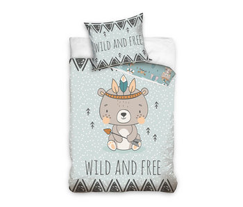 Animal Pictures Duvet cover Wild and Free 140 x 200 Cotton