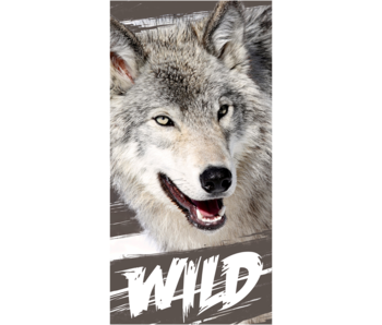 Animal Pictures Beach towel Wolf 70 x 140 cm Cotton