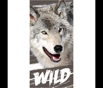 Animal Pictures Drap de plage Loup 70 x 140 cm Coton