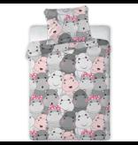 Animal Pictures BABY Housse de couette Hippo Smile - 100 x 135 cm - Coton
