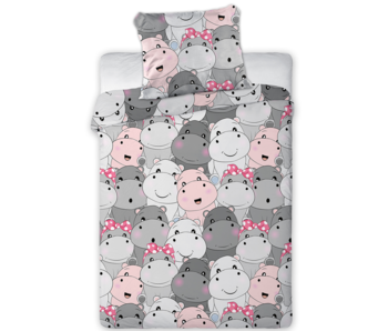 Animal Pictures BABY Duvet cover Hippo Smile 100 x 135 cm