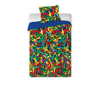 Bricks Housse de couette Coloré 140 x 200 Coton