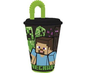 Minecraft Tasse avec paille 430 ml