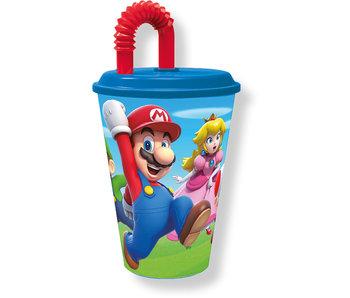 Super Mario Tasse mit Strohhalm 430 ml