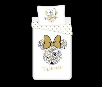 Disney Minnie Mouse Housse de couette Or 140 x 200 cm Coton