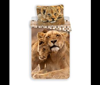 Animal Pictures Housse de couette Lion 140 x 200 cm Coton