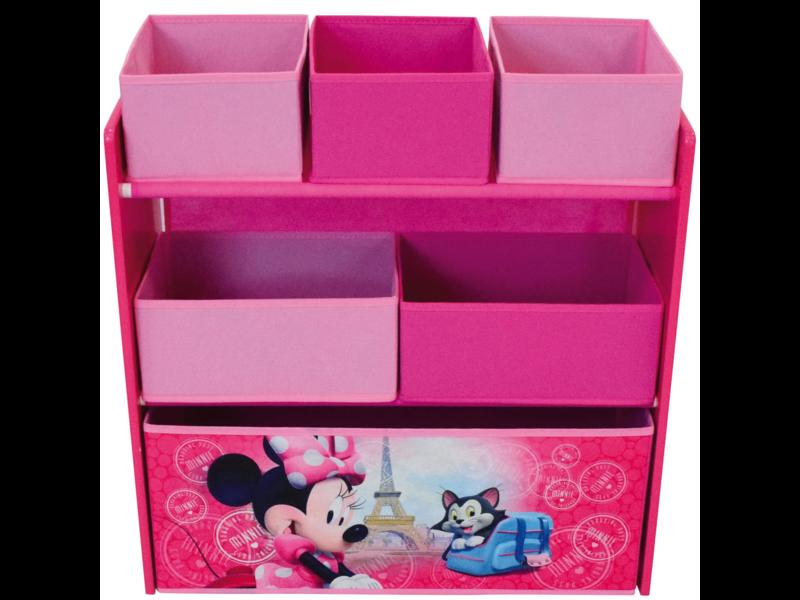 Disney Minnie Mouse Wooden Cabinet - 66 x 63 cm - 6 baskets toy box