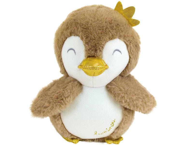 Luminou Cuddly toy Penguin Glow in the Dark - 18 cm - Brown