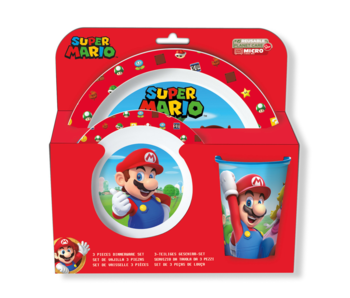 Super Mario Ontbijtset 3 delig