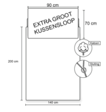 Minecraft Outside - Dekbedovertrek - Eenpersoons - 140 x 200 cm - Multi