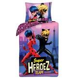 Miraculous Duvet cover Super Heroez Team - Single - 140 x 200 cm - Cotton