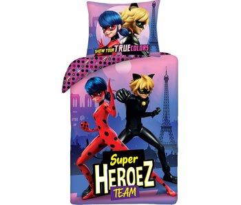 Miraculous Duvet cover Super Heroez Team 140 x 200 cm Cotton