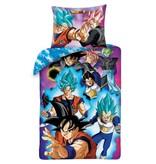 Dragon Ball Z Housse de couette Super Saiyan - Simple - 140 x 200 cm - Coton