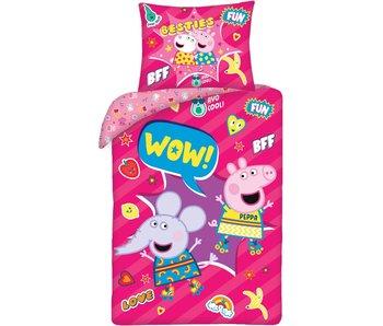 Peppa Pig Housse de couette Waouh ! 140x200 cm Coton