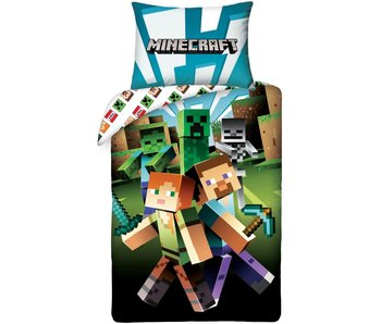 Minecraft Housse de couette Monster Spawn 140 x 200 cm Coton