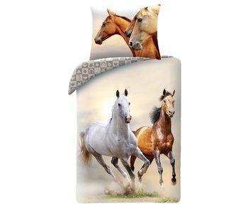Animal Pictures Housse de couette Chevaux Galop 140 x 200 cm Coton