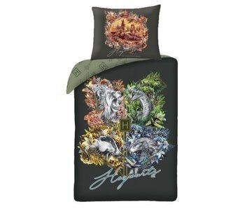Harry Potter Housse de couette Logo Poudlard 140 x 200 cm Coton