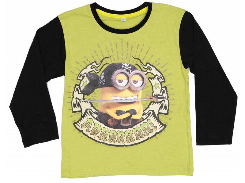 Minions - Hemd Jungen lange Hülse - 8 Jahre - Grün