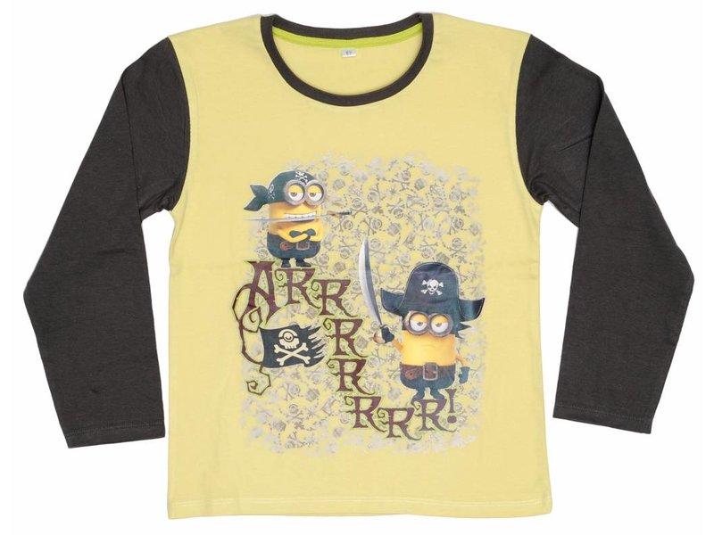 Minions Shirt boys lange mouw Army 6 jaar