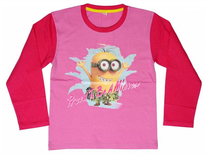 Minions Proud - Shirt girls lange mouw - 2 jaar