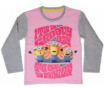 Minions Shirt filles quatre ans Groovy